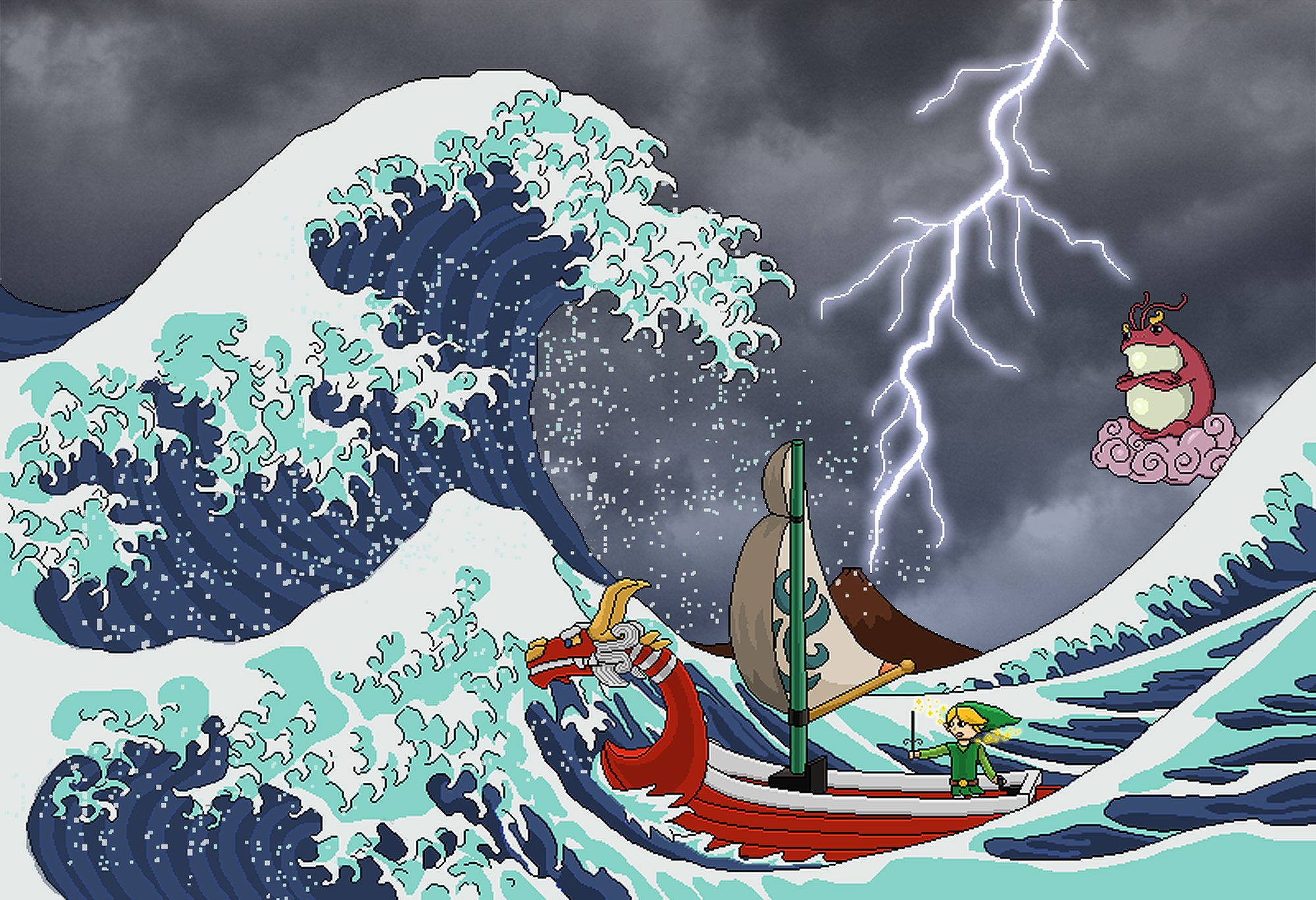 Windwaker/ Great Wave crossover | Funny | Pinterest ...