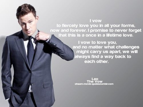 #channingtatum #thevow #quote