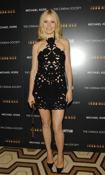 Love Gwyneth in this Stella McCartney LBD. See more of her best looks: http://on-msn.com/GFZhtX