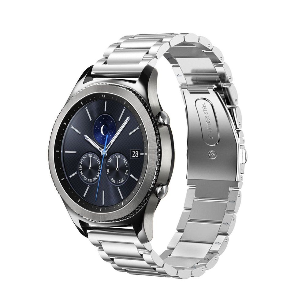 Samsung Gear S3 Classic Frontier Band Premium Solid Stainless Steel Silver Watch Strap Watchband