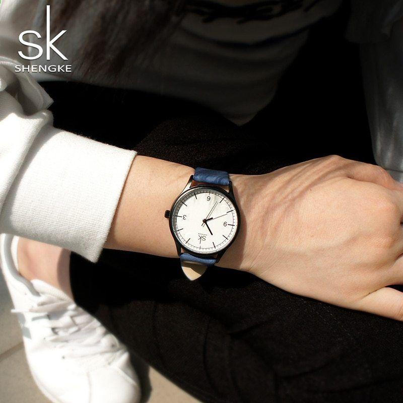 9f2fb9ed2 Shengke 2018 Nová značka Elegantní Retro Hodinky Dámské hodinky Módní  dámské hodinky Quartz Dámské náramkové hodinky