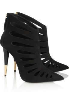 Giuseppe Zanotti Black Cut-Out Trace Ankle Boots