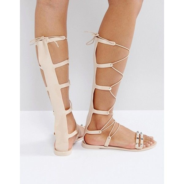 fa55813fcdf0 ASOS FREEMAN Jelly Gladiator Flat Sandals ( 21) ❤ liked on Polyvore  featuring shoes