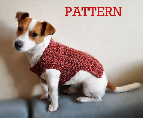 Crochet Pattern, Crochet Dog Sweater Pattern, Dog Clothes Pattern ...