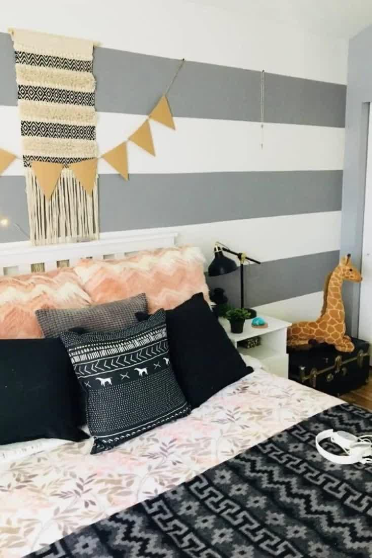 Your teen is at that awkward age between a child and an adult. They've outgrown their childhood room and are ready for something a bit more grown-up. #homedecor #homedecorideas #homedesign #homedesignideas #nextluxury