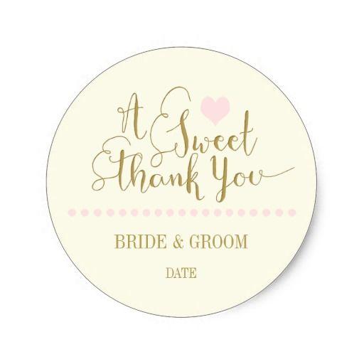 Wedding Favor Sticker Sweet Thank You Zazzle Com