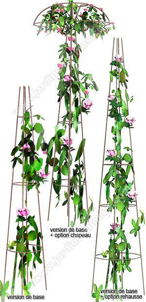 tuteur colonne pour rosier pleureur et grimpant avec couronne plantes jardin pinterest. Black Bedroom Furniture Sets. Home Design Ideas