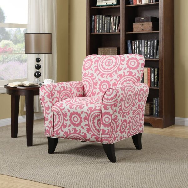 Handy Living BF340C-PSU70-103 Sasha Chair, Magenta Medallion ...
