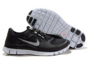 2012 Nike Free Run 5.0 V3 Men Shoes Black Silver | Nike free