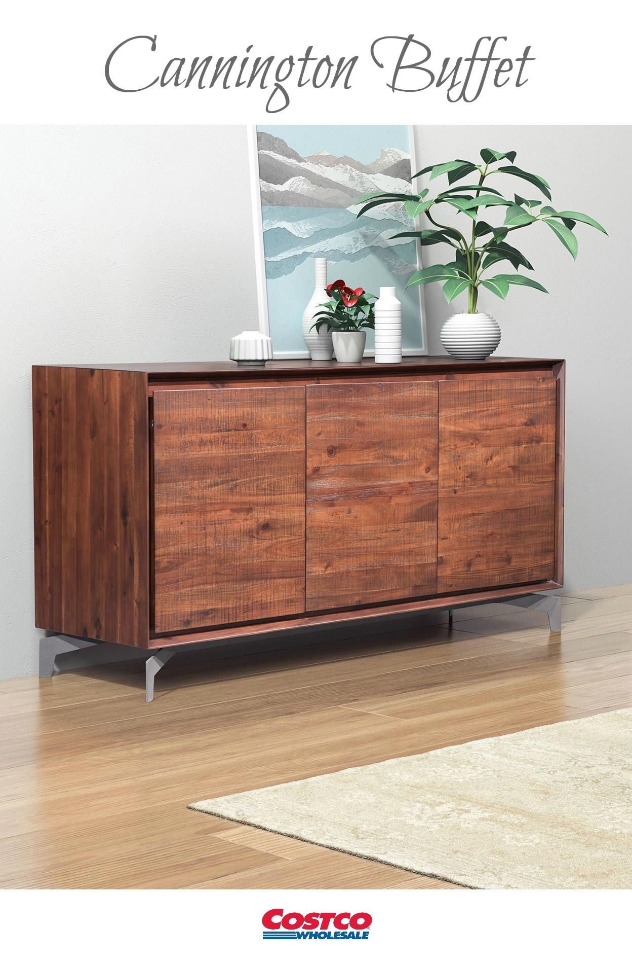 The Cannington Buffet with three doors features vast storage space