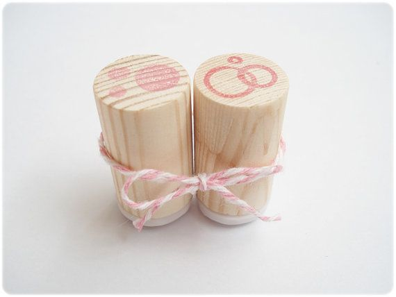 Unique round stamps set of 2. Dots and by JapaneseRubberStamps, £5.00