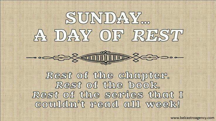 Day of rest...