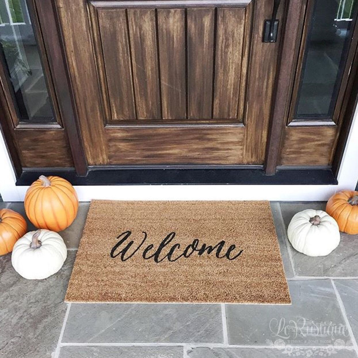outdoor front door matsWelcome Mat  Doormat Door Mat Gift  WM05A by LoRustique on