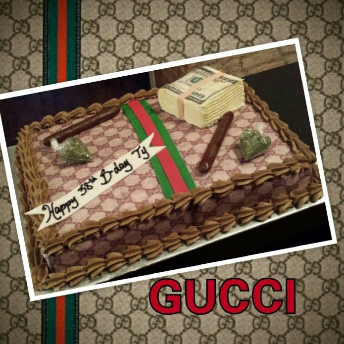 GUCCI MONEY BIRTHDAY CAKE CAKECAKECAKECAKEITS NOT