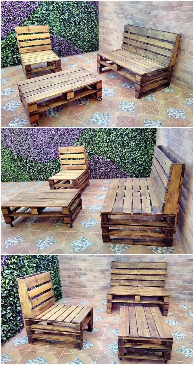 Pallets Recycled Patio Furniture Pallet Furniture Furnitureideas Pallet Patio Furniture Pallet Furniture Outdoor Pallet Garden Furniture