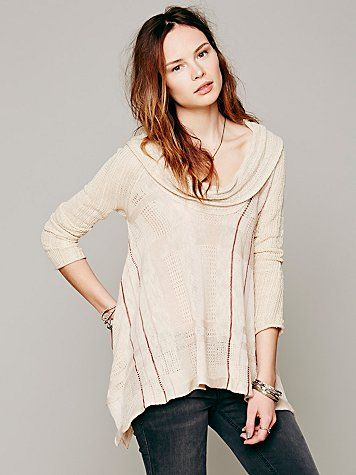 Free People Trapeze Cowl Neck