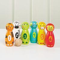 George Home Wooden Animal Skittles Set Kids Asda Direct