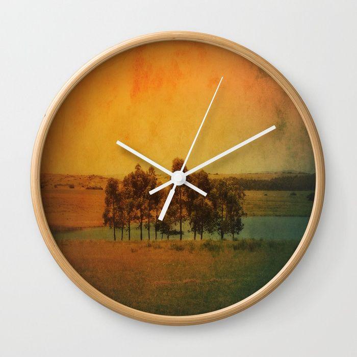 Solitude Colors Wall Clock By Victoriaherrera Society6 Ahap