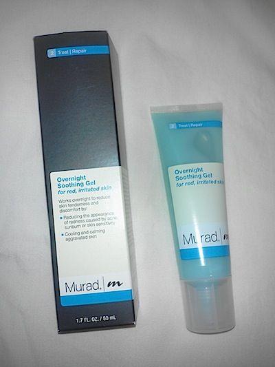 Review Murad Overnight Soothing Gel How To Treat Red Irritated Sunburned Facial Skin Beautystat Com Facial Skin Gel Skin