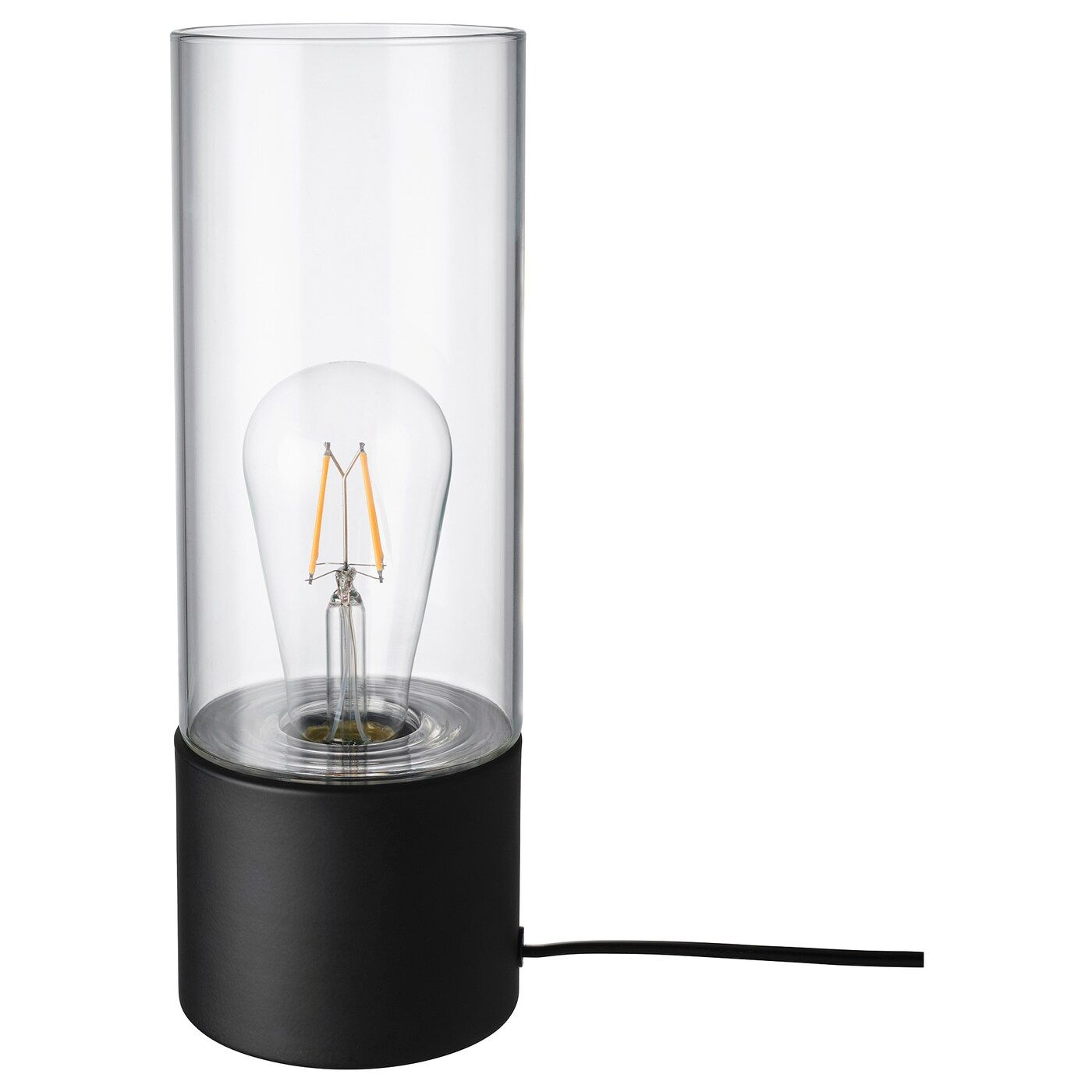 Mackebo Lampe De Table In 2020 Black Table Lamps Table Lamp Clear Glass