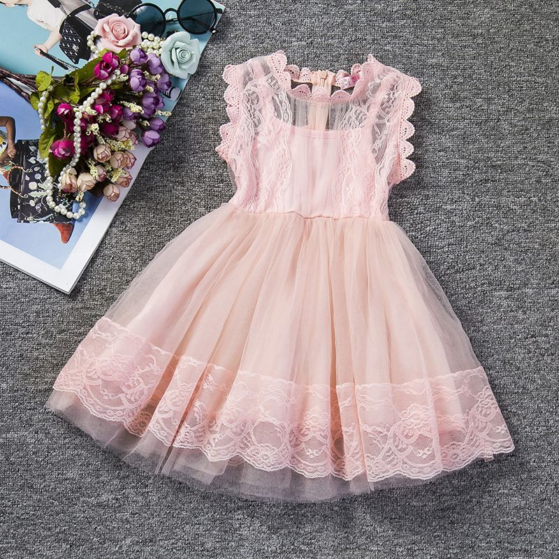 Robe rose pour fille