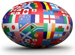 Rugby Ball many represent  own country ..... all the Nations!