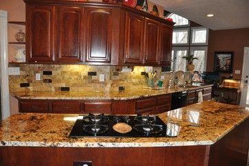 Rustic Kitchen Backsplash Ideas Granite Countertops And Tile