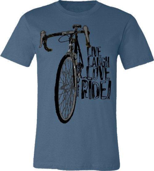 Shirt We love cycling! Laugh
