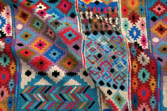 Kilim Fabric Kilim Ikat By Cassiopee Kilim Bohemian Home Decor