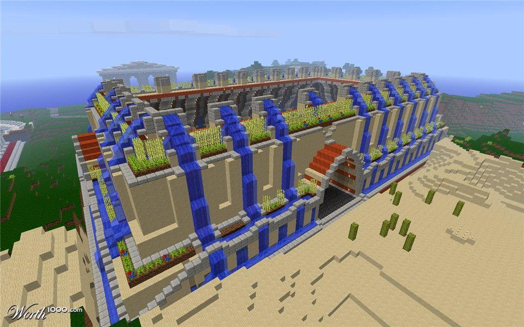 Hängenden Gärten von Babylon Minecraft 6. Platz Eintrag in Sandburgen