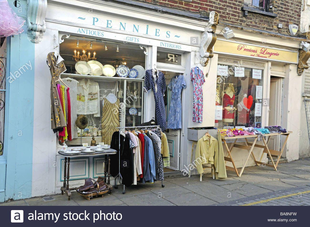 Vintage Clothing Shop Camden Passage Islington London England Uk