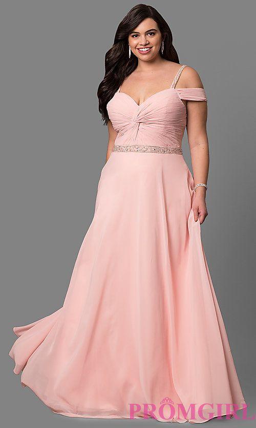 Plus Size Cold Shoulder Long Corset Prom Dress Dresses Pinterest