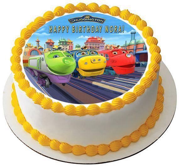 Chuggington Trains 2 Edible Birthday Cake Topper OR Cupcake Topper