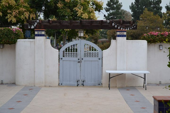 Gate to an additional parking lot at the CSUF Alumni House