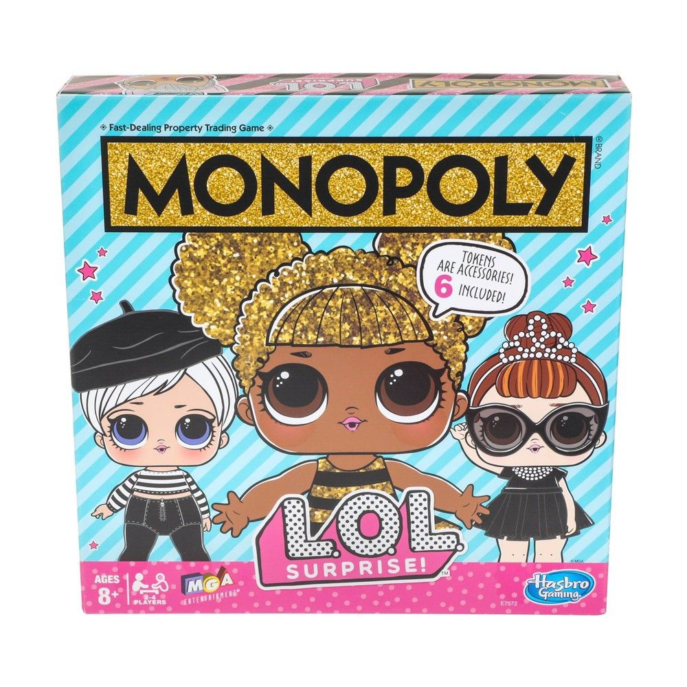 Monopoly Game L.O.L. Surprise Board games for kids