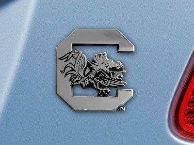 South Carolina Gamecocks Heavy Duty Metal 3-D Color Auto Emblem