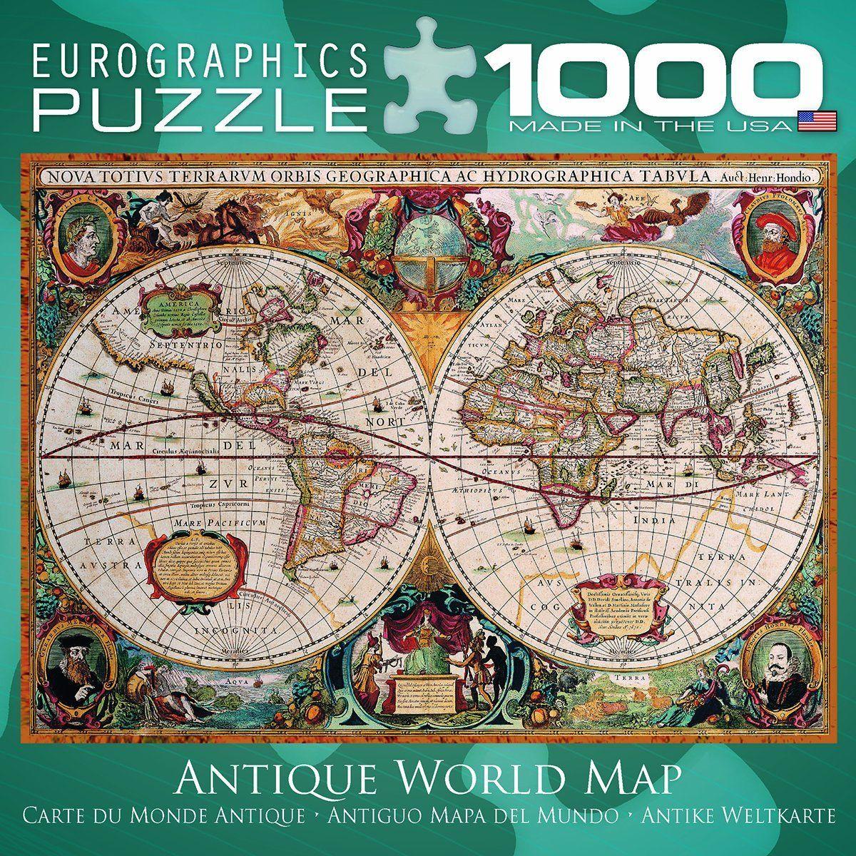 Amazon antique world map puzzle 1000 piece toys games amazon antique world map puzzle 1000 piece toys games gumiabroncs Images
