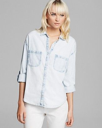 AG Adriano Goldschmied Shirt - Marcel Chambray | Bloomingdale's