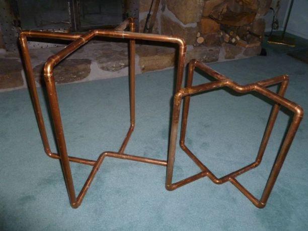 Copper Pipe Accent Tables