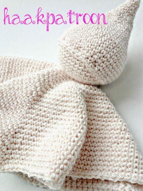 DIY-knuffelpopje-haken - www.kreadoe.nl   Crochet cobija bebe ...