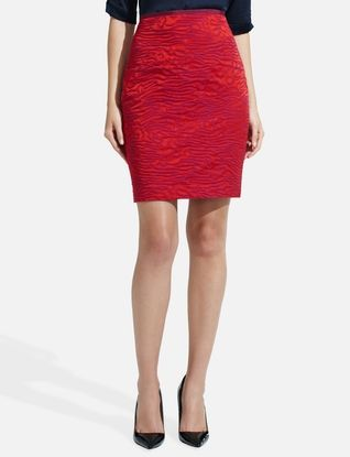 I was just talking about getting a red skirt! The Limited - Jacquard Pencil Skirt
