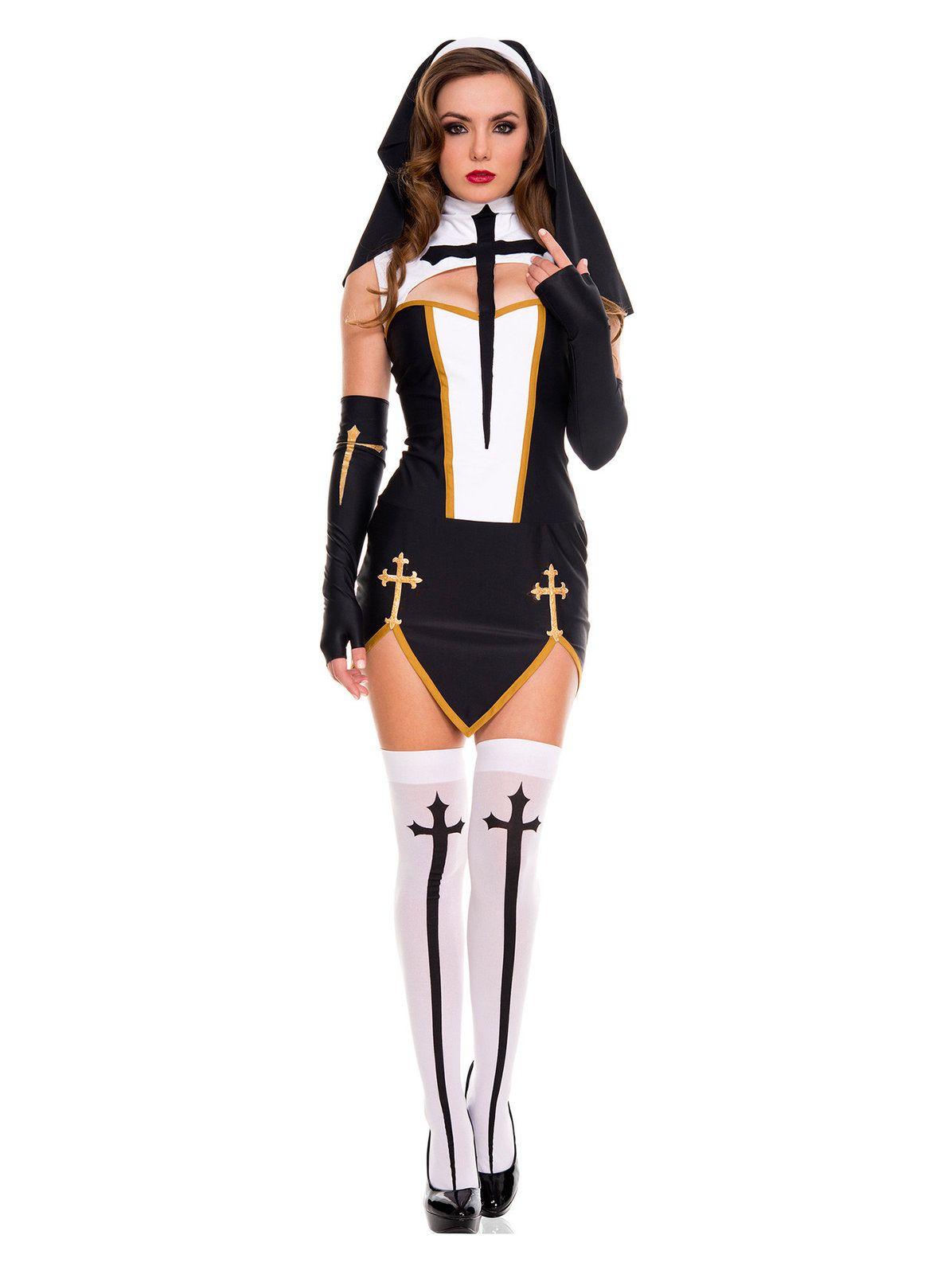 Women's Sexy Bad Habit Nun Costume   Costumes and Halloween costumes