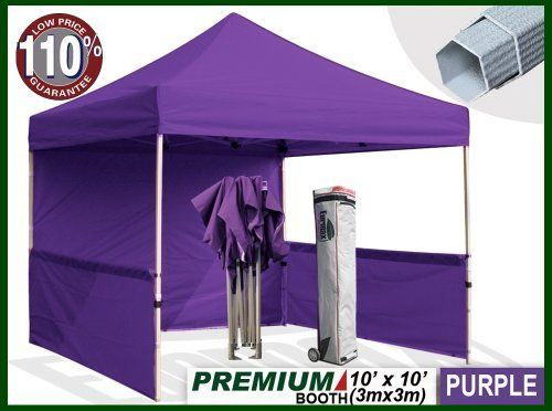 Eurmax Premium Ez Up Canopy Booth Bonus Awning And 4weight Bag 10x10 Feet Purple By Eurmax 449 95 Eurmax Premium Canopy Bo Canopy Canopy Frame Weight Bags