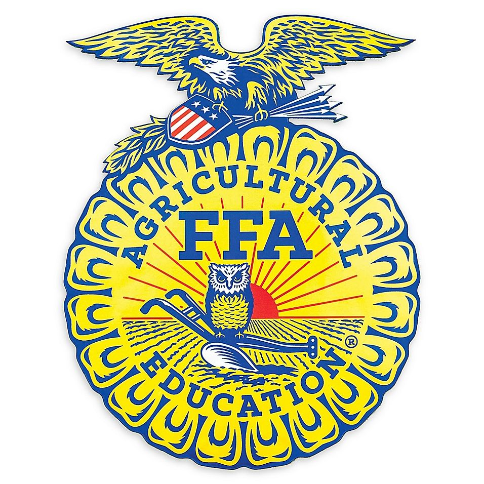 Ffa Agricultural Education Logo Small Outdoor Decal Yellow Ffa