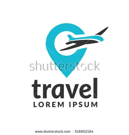 Air Travel Logo Template Travel Logo Pin Logo Location On Map Logo Concept Plane Icon Plane Logo Plane Vector Ai Travel Logo Travel Agency Logo Map Logo