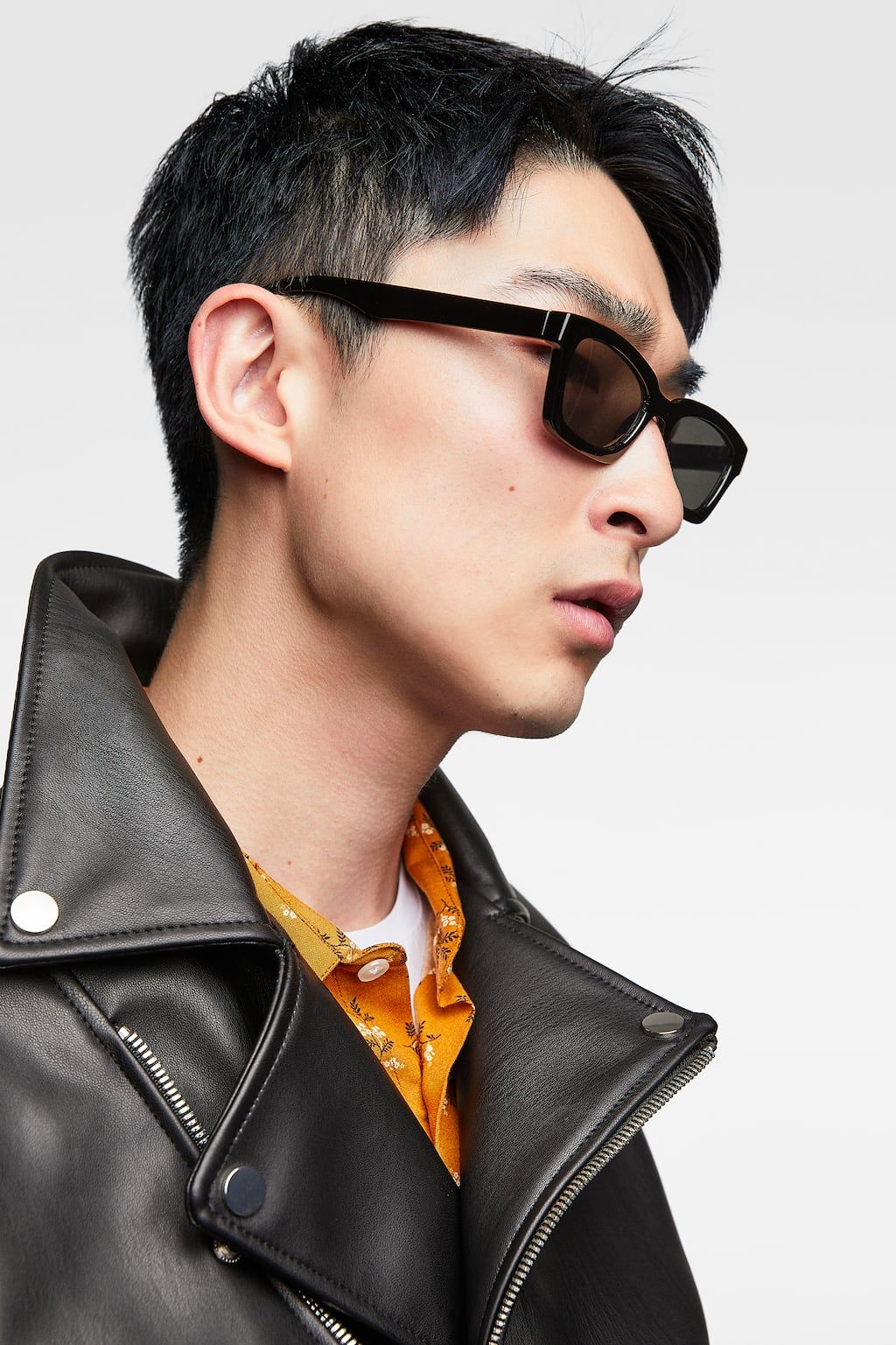Image 4 of FAUX LEATHER BIKER JACKET from Zara(이미지 포함)