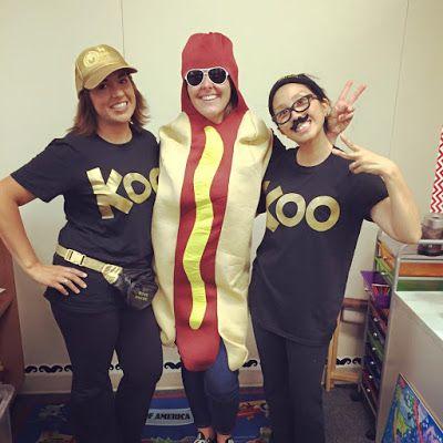 Koo Koo Kanga Roo costumes. We pulled off an awesome Go Noodle Assembly for  our school!  kookookangaroo  gonoodle  rsf  hotdog  halloween 003d0ef0ab52