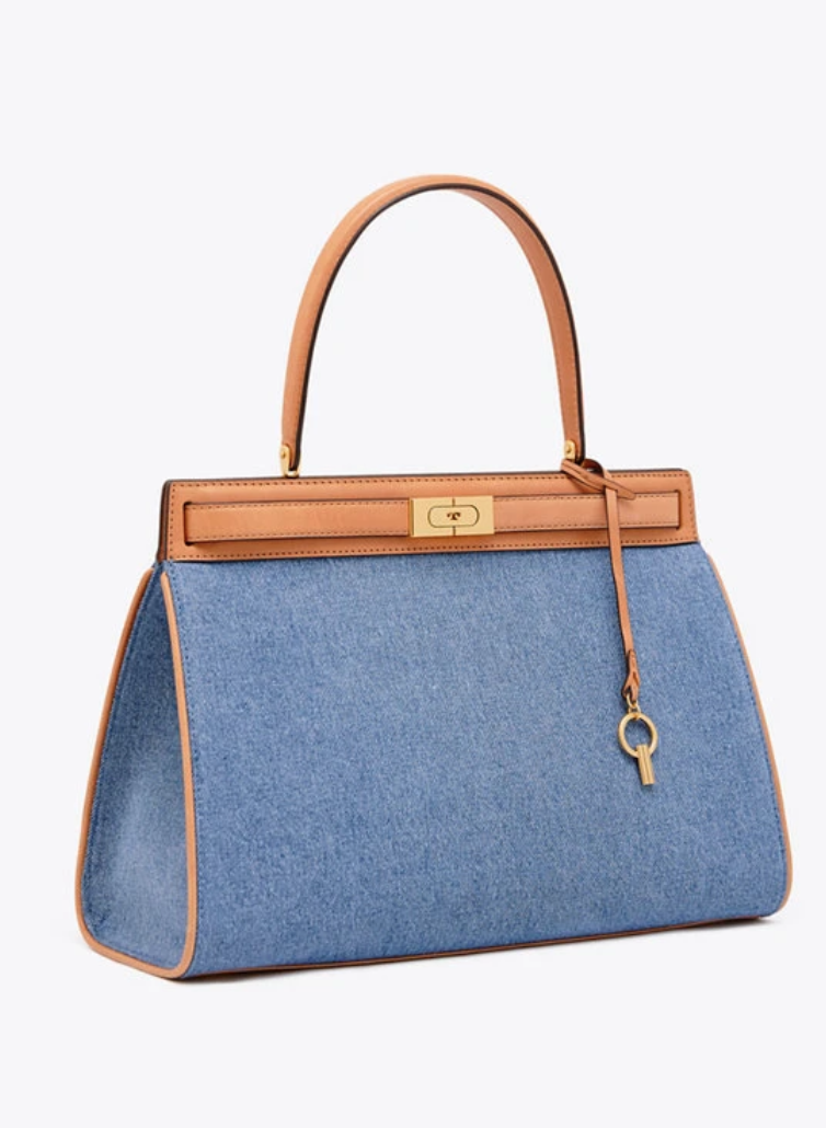 f810d4d10dea Tory Burch Lee Radziwill Large Denim Satchel