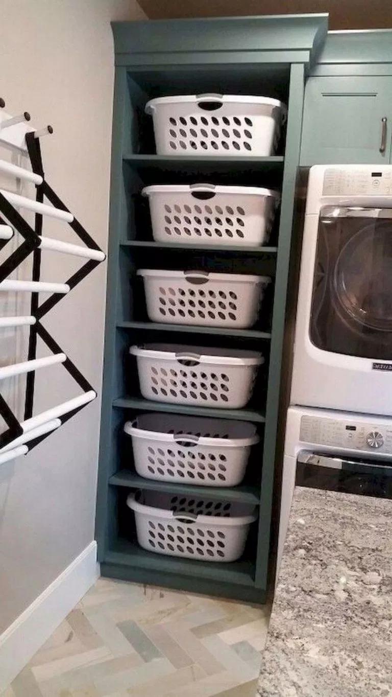56 Amazing Laundry Room Decorating Ideas To Inspire You Laundryroom Homeideas Housede Laundry Room Diy Diy Laundry Room Storage Laundry Room Storage Shelves