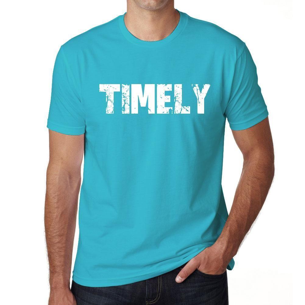 TIMELY Men's Short Sleeve Rounded Neck T-shirt